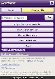 Scottrade options application