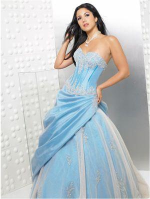 vestido azul aniversário de 15 anos