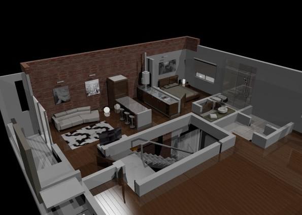 Daniel arroyo arquitectura dise o interior for Diseno interior departamento