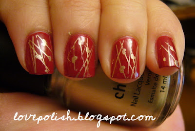 OPI Little red Wagon Holiday Nails konad