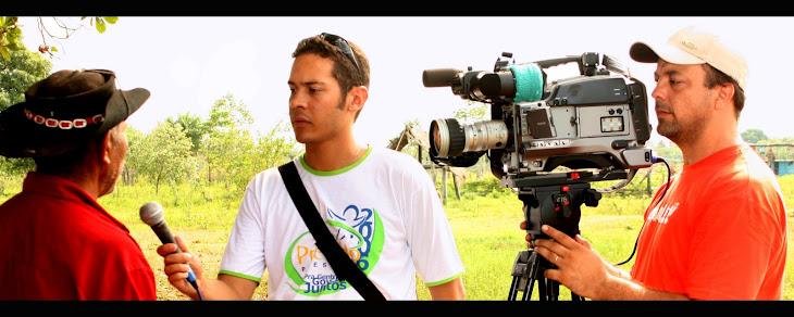 No meio do Pantanal, gravação do Projeto Acão Ribeirinha.