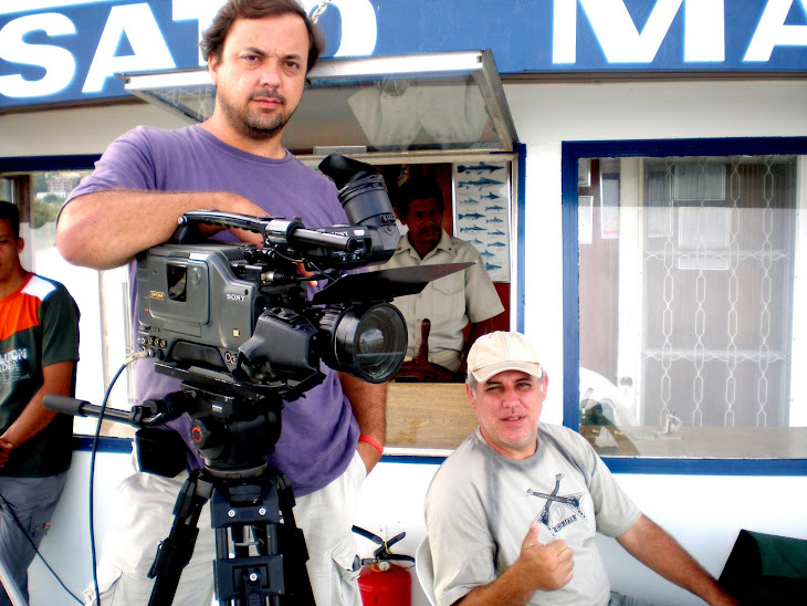 Eu e diretor de cena Luis Andrade.