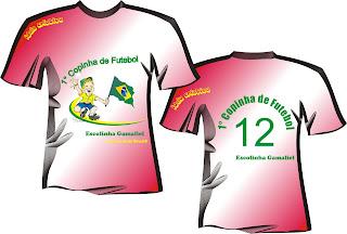 Arte em Camiseta Copa do Mundo Para escolas