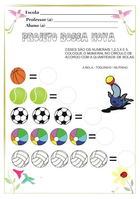 Atividade Projeto Bossa Nova a foca e a bola