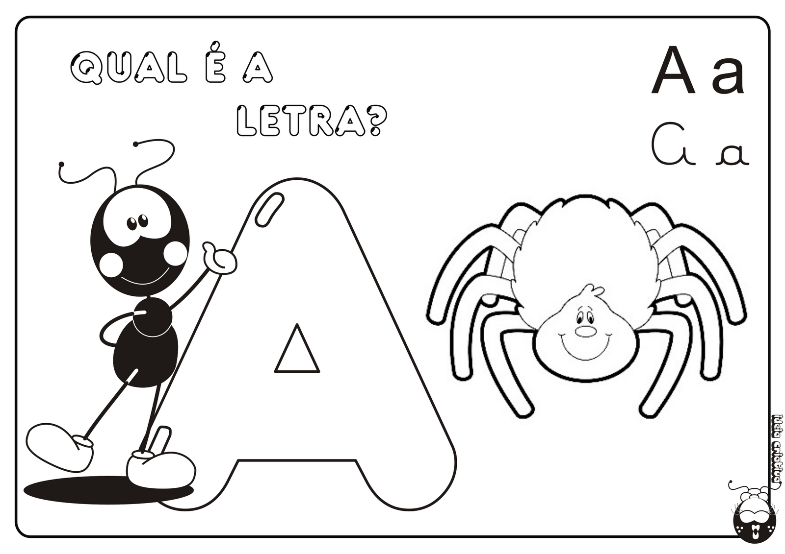 Alfabeto Smilinguido 4 tipos de letra para Baixar Grátis Letra A