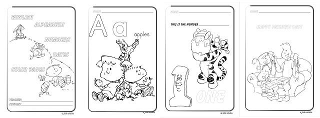 Caderno de Inglês para educação infantil