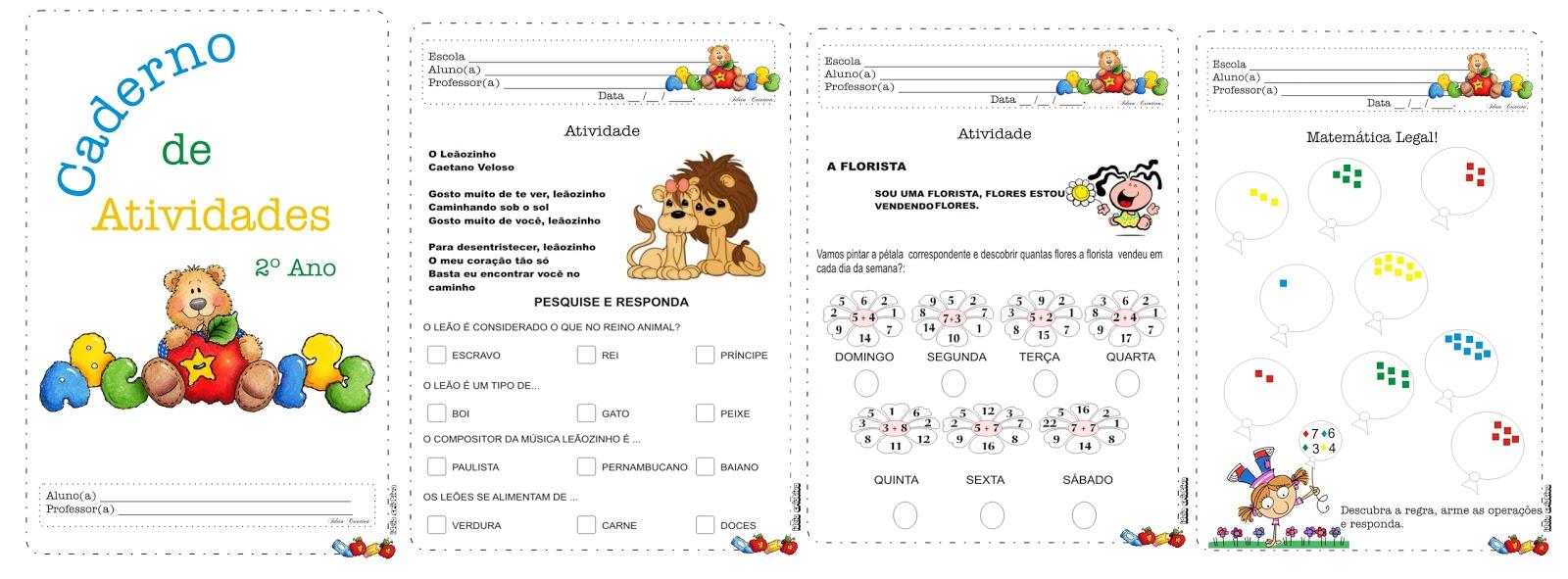 Caderno De Atividades Ursinho Estudioso 2   Ano
