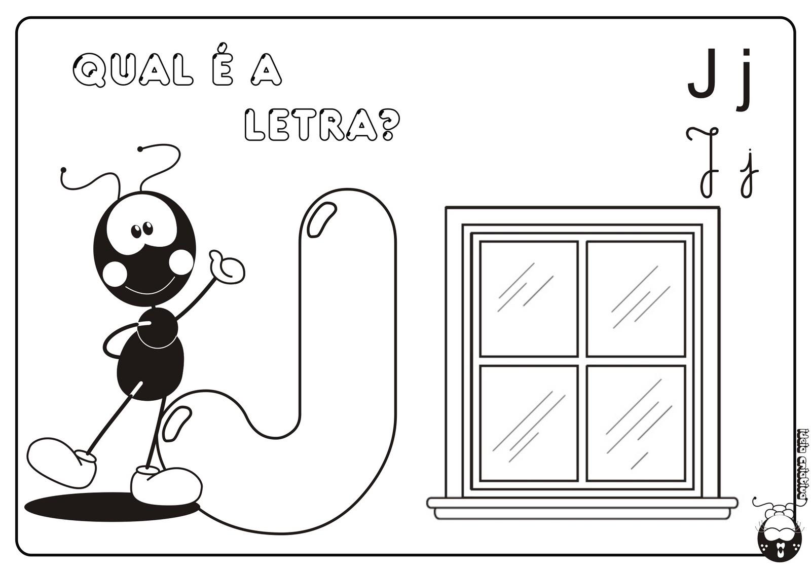 Alfabeto Smilinguido 4 tipos de letra para Baixar Grátis Letra J