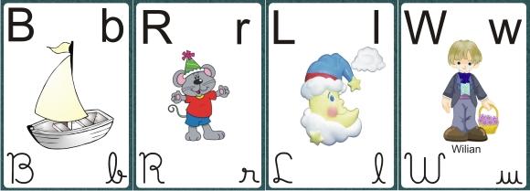 Alfabeto pra Imprimir Verde e Branco