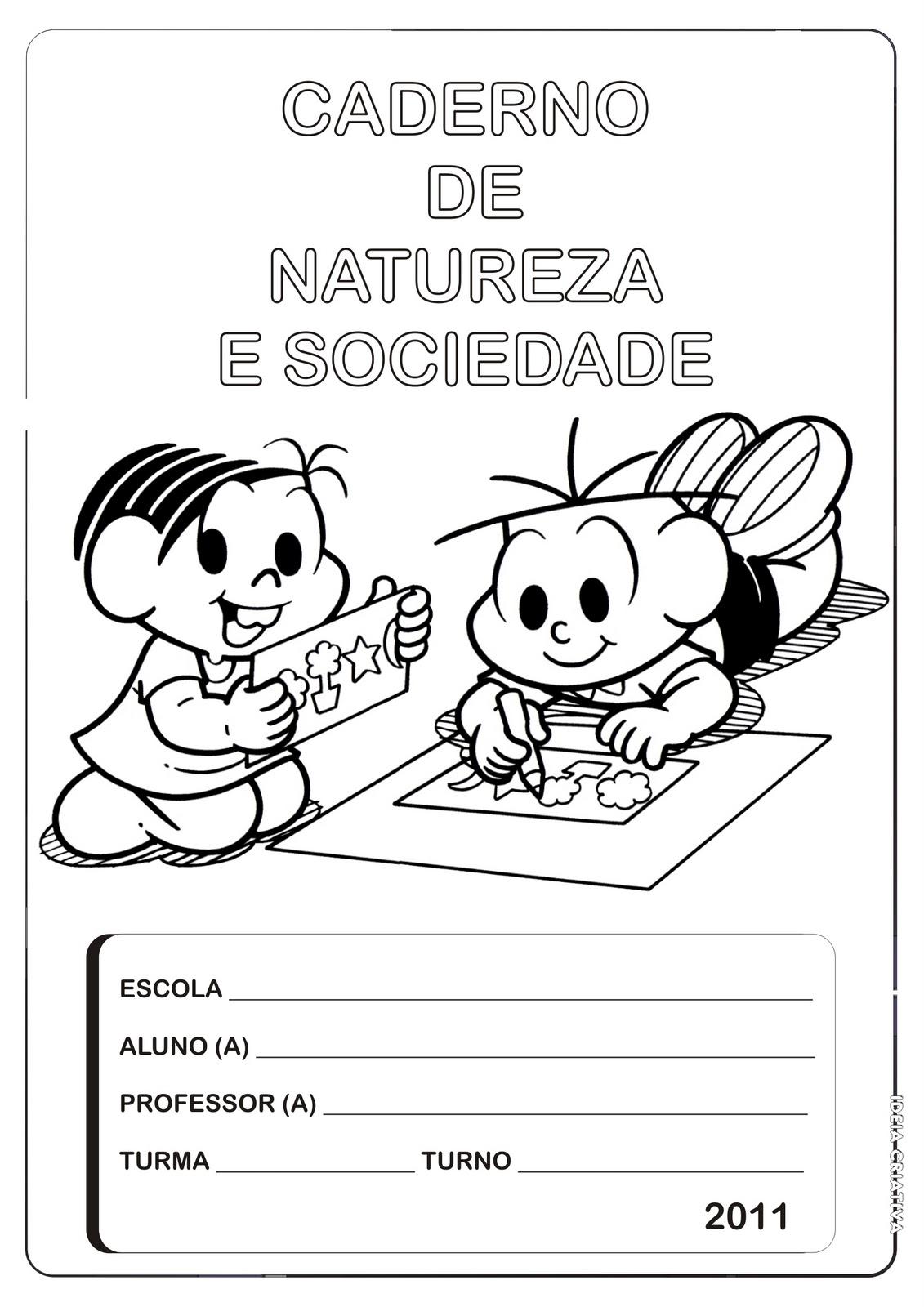 Capa P  Caderno De Natureza E Sociedade  Turma Da M  Nica