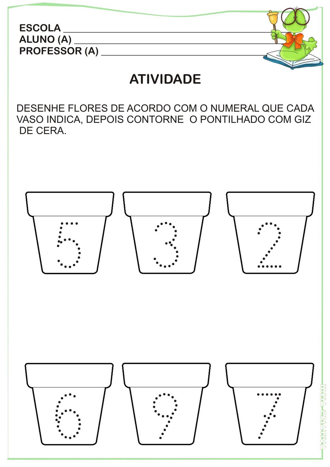 Fabuloso Atividade Numerais Pontilhados | Ideia Criativa - Gi Barbosa  WX16