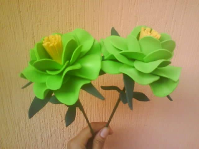 Pattyto Eva`rts: Rosas verde Limon en foami