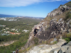 Climbing Mt Coolum