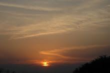 Sun sets in village Jokehara जोकहरा मेँ सूर्यास्त