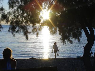 ηλιοβασίλεμα στην παραλία της Αιγιάλης, ©coby