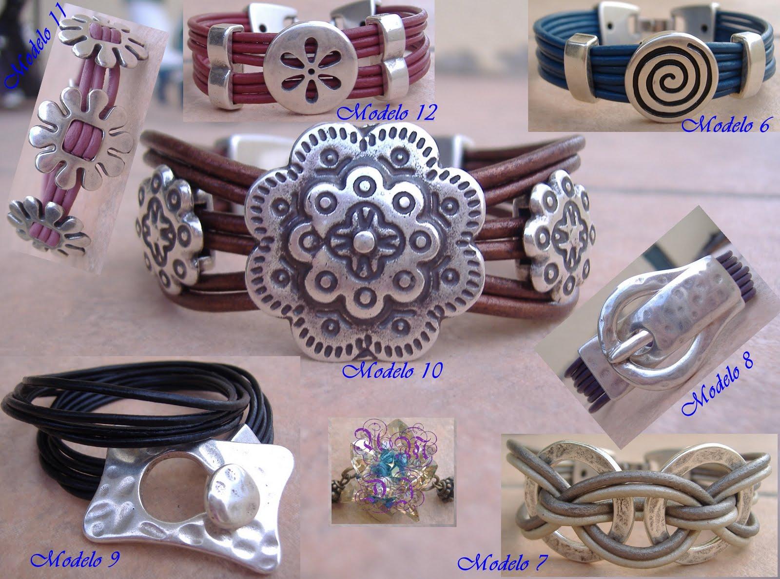 Distintas combinaciones de cuero y zamak