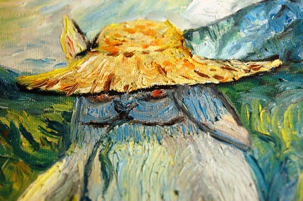 Summer in Toscane closeup a la Van Gogh