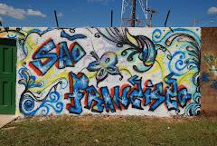 Grafite Entrada da antiga Escola