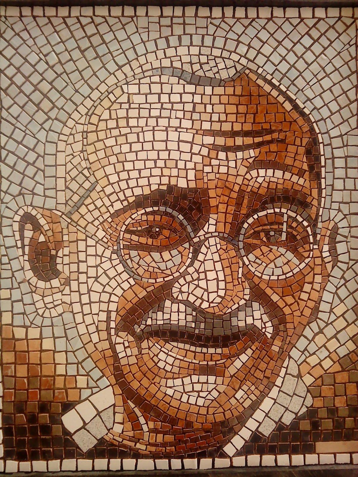 mosaicos tarhouchi gandhi la sonrisa de la paz mosaicos
