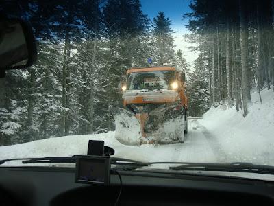 col de la menée neige