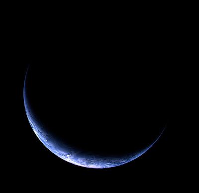 Rosetta's new view of crescent Earth