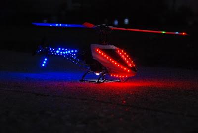 Sistema XeroGear instalado en un helicóptero R/C