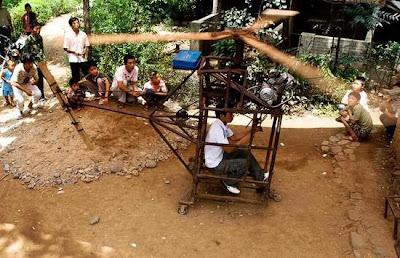 Un joven chino construye su propio helicóptero