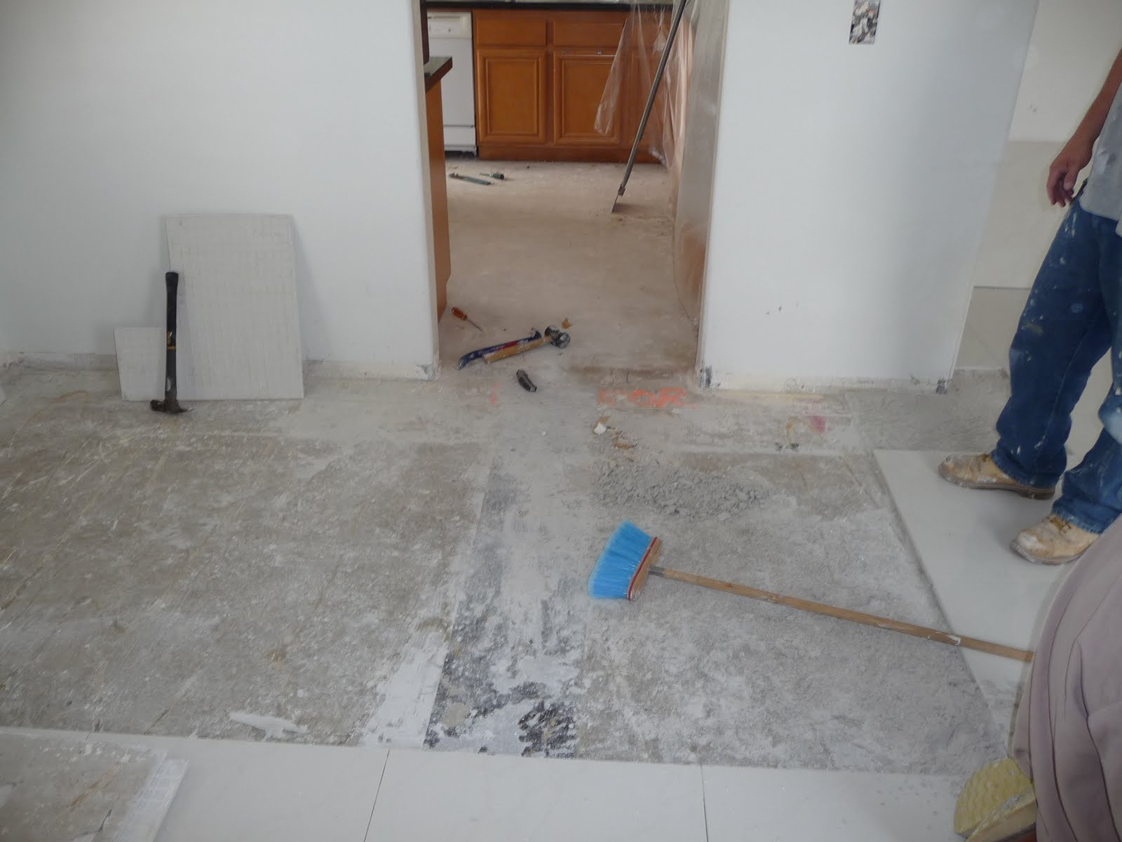 Thb construction updating old floor tile with 2ft x 2ft granite tiles updating old floor tile with 2ft x 2ft granite tiles removal dailygadgetfo Gallery