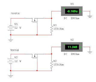 Reverse Polarity Protection using Mosfet