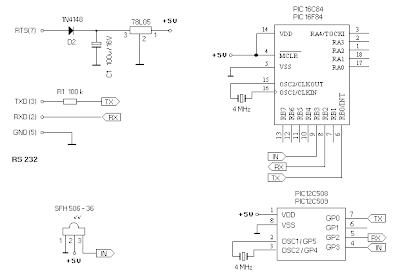 PIC Universal Receiver Infrared schematic