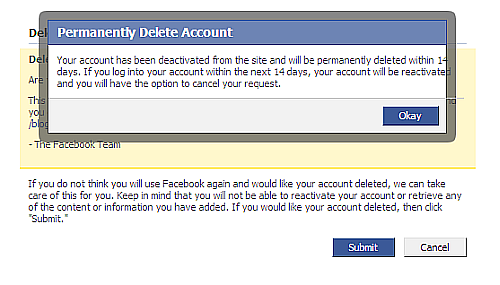 I Dearth To Close My Facebook Account Permanently