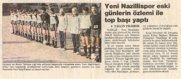 Sezon Açılışı 1984