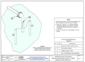 SPC con ánodos de corriente galvánica para tubería en tramos enterrados y sumergidos