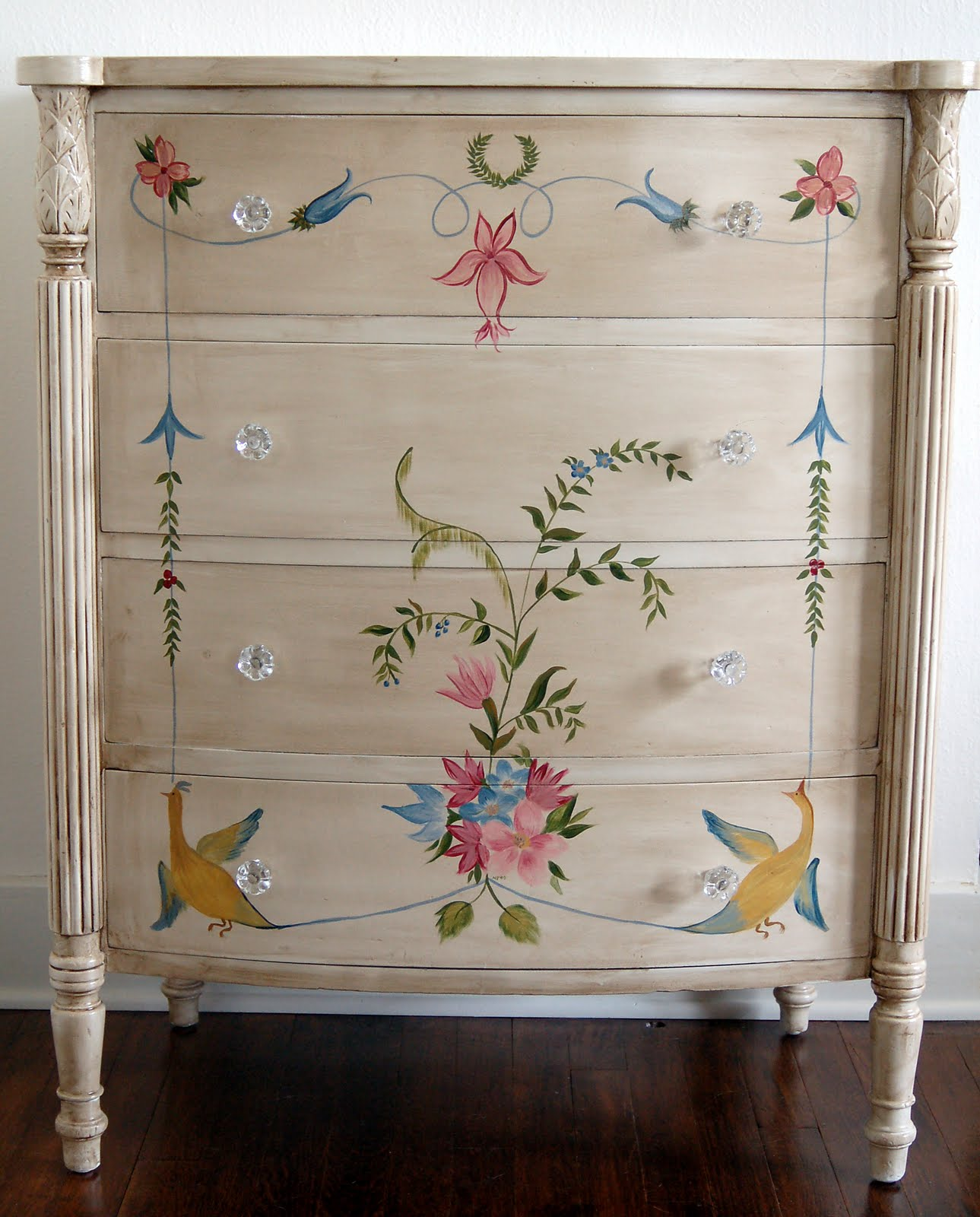 Hand Painted Dressers On Pinterest Painted Dressers