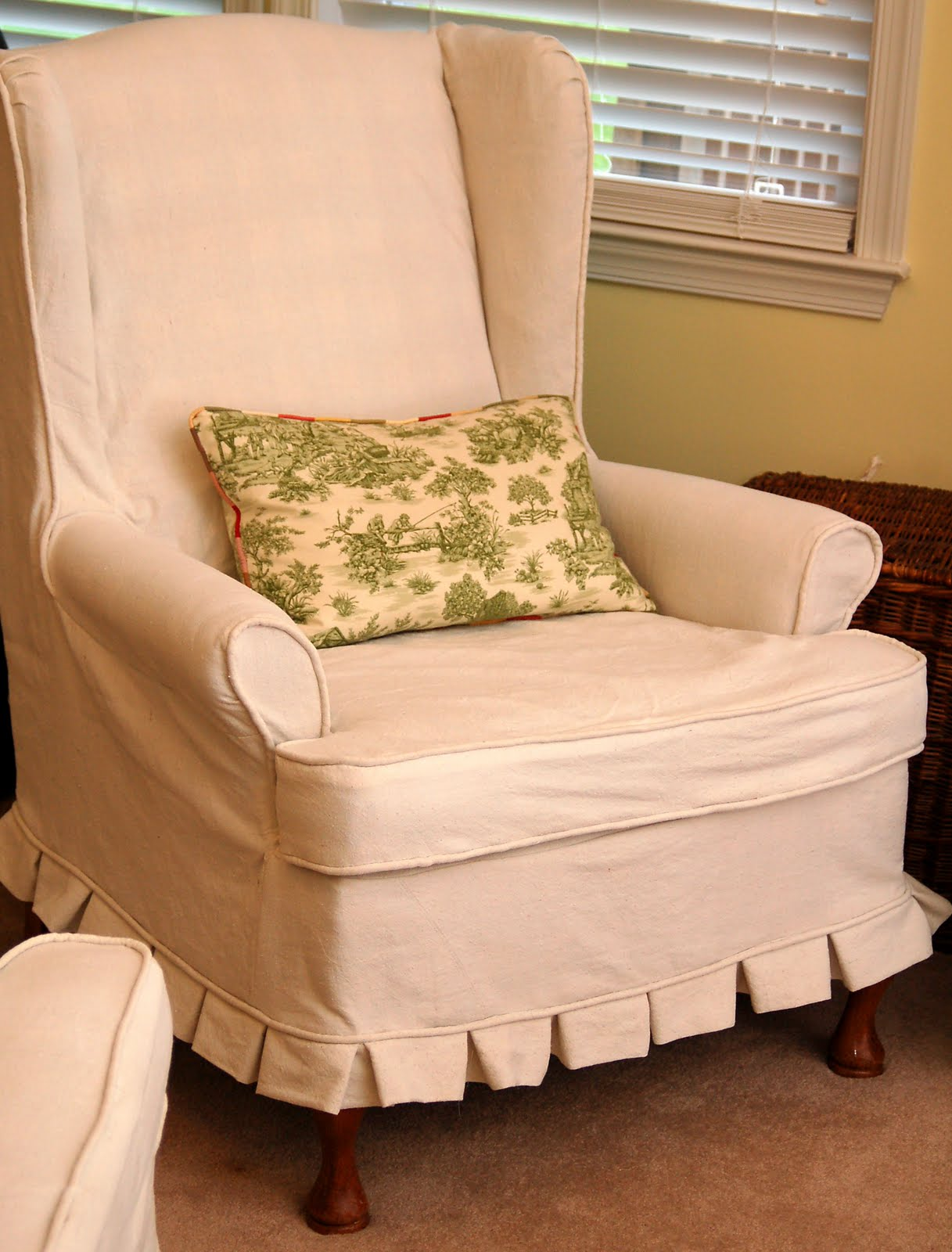 Living Room Chair Cover Furniture Soothing Furniture Models With Wing Chair Slipcover