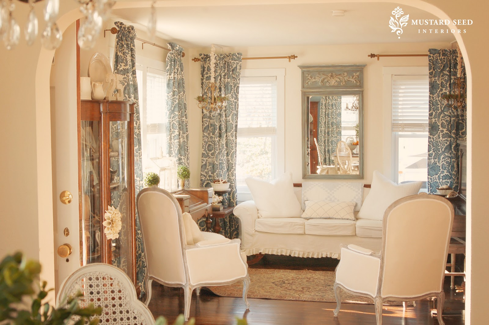 Click Here To See My French Chair Transformation The Trumeau Mirror Makeover Read About Chandeliers And For A Full Curtain