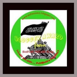 AWARD DARI BRO. SaiFun NizAm S.Ag