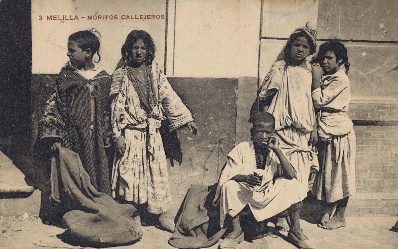 Melilla, principios del siglo XX, Moritos Callejeros