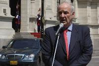 Declaraciones del Canciller José Antonio García Belaúnde. Foto:ANDINA / Juan Carlos Guzmán Negrini. Lima, oct. 27 (ANDINA)