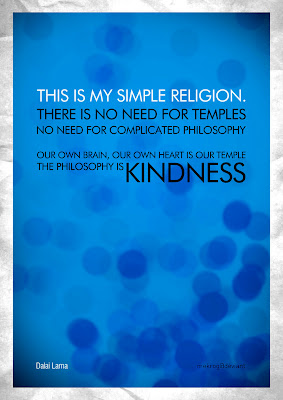 dalai lama holly santidade budism budismo this is my simple religion there is no need for temples no need for complicated philosophy our own bran our own heart is our temple the philosophy is kindness
