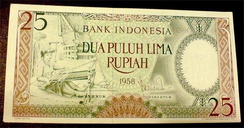 seri pekerja tangan 25 rupiah tahun 1958