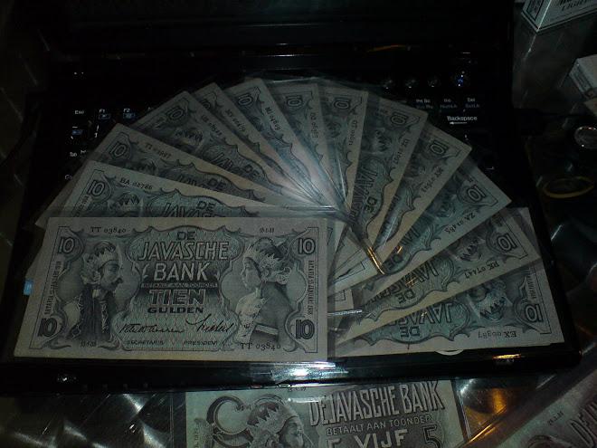 10 gulden seri wayang