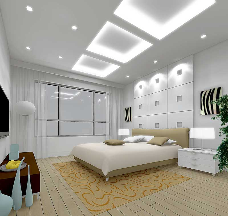 Modern bedroom interior design round bedroom gypsum board ceiling - Interior Designing Tips Modern Interior Design Ideas