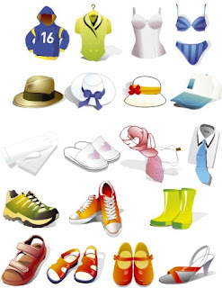 Иконки в стиле Web 2.0.  Одежда и обувь.