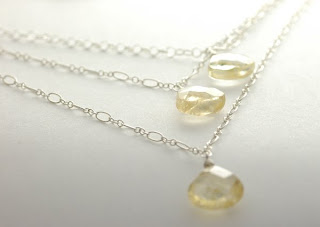 citrine and sterling silver