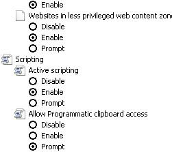 Enable Active Scripting