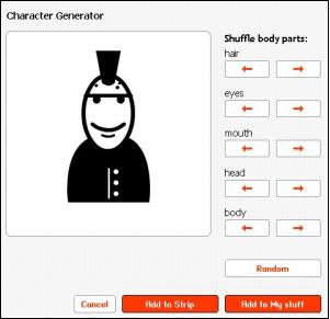 Character generator on strip generator