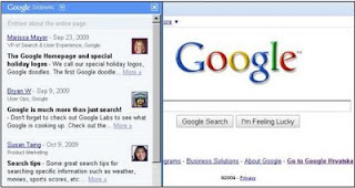 Google Sidewiki toolbar
