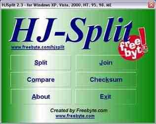 HJ Split v2.4 – Programa que separa e junta arquivos