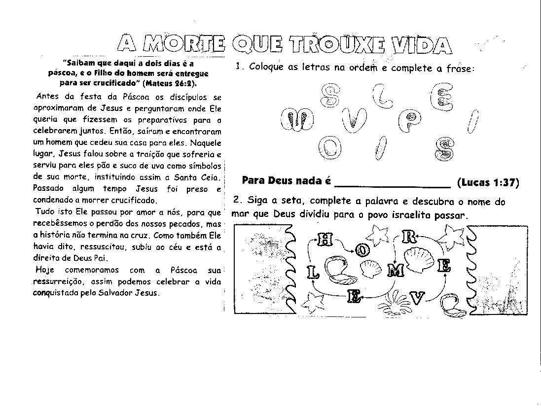 Preferência HISTÓRIAS EVANGÉLICAS INFANTIS: ATIVIDADES PARA PÁSCOA ZY42